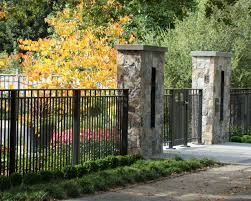 Stone Pillar Fence Houzz