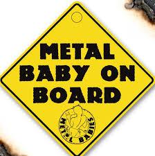 Metal Baby Car Sign