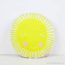 Mini Sun Pillow In Yellow For Kids Room Decor S4573738 8904