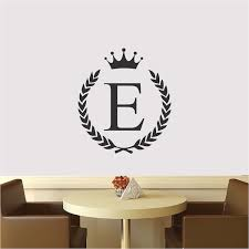 Wreath Name Initial Wall Decal Beautiful Family Initials Fancy Family Nursery Or Business Name Initial Decal From Trendy Wall Designs