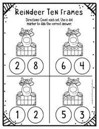 free printable reindeer ten frame