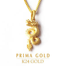 pure gold pendant dragon dragon