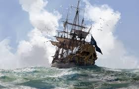sky sea pirate cloud pirate ship