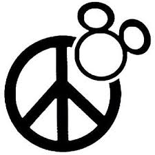 Amazon Com Peace Sign Mickey Mouse 6 Black Car Truck Vinyl Decal Art Wall Sticker Usa Home Kitchen