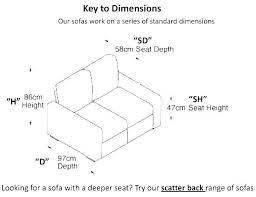 standard sofa dimensions in meters