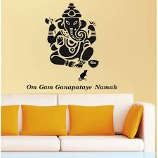 Black Ganesha Vinyl Stickers Vinyl Walldecal Walldecal Decor Your Walls