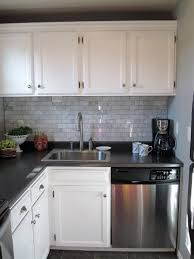 white cabinets and dark gray