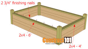 raised garden bed plans with bench