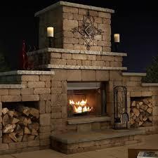 necessories grand outdoor fireplace