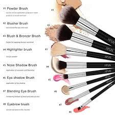 amazon com makeup brushes set basic 8