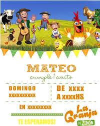 Tarjeta Invitacion Digita La Granja De Zenon 120 00 En Mercado