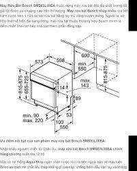 Máy Rửa Chén Bát Bosch SMS63L08EA (HMH), Hàng Chính Hãng, Độ Ồn 48Db, Chất  Liệu Inox Bền Đẹp, Có Khóa An Toàn Cho Trẻ Em