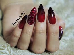 Arvensis Art Czerwono Czarne Ombre Lakier Hybrydowy Modelones I