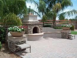 outdoor fireplace arizona landscaping
