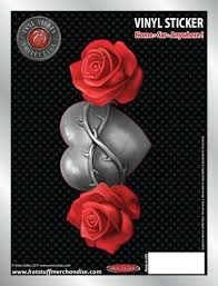 Heart And Red Roses Only Love Remains Car Sticker Auto Decal Anne Stokes For Sale Online