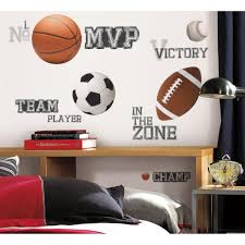 Roommates All Star Sports Saying Peel And Stick Wall Decal Rmk1705scs The Home Depot