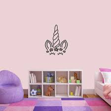 Shop Unicorn Face Silhouette Wall Decal Overstock 25779794