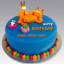 write on kids birthday cake and greeting card online