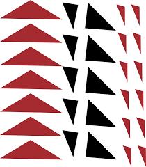 Modern Triangles Car Sticker Tenstickers