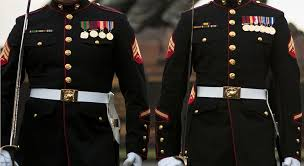wedding for wearing his dress blues