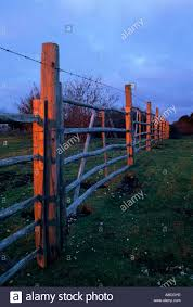 Last Rays Of Sunlight Cast Warm Light On A Retaining Fence On Stock Photo 7343292 Alamy