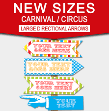 diy carnival directional sign