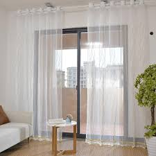 2020 Curtains For Living Dining Room Bedroom Gold Wave Brief Embroidery Curtain Translucent White Princess Girl Window Decor Tulle From Greenliv 15 48 Dhgate Com