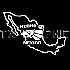 Hecho En Mexico Eagle Map Vinyl Decal Aztec Eagle Aguila Custom Design Ebay