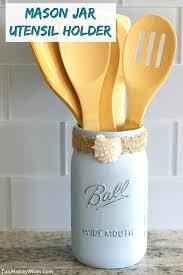 how to make a mason jar utensil holder