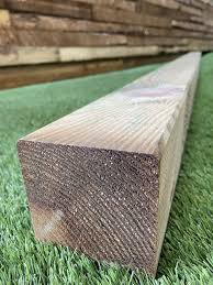 8ft 2400mm Plained Solid Wood Fence Post 90mm X 90mm Duluxe Range