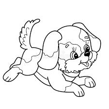 Kleurend Paginaoverzicht Van Leuk Puppy Beeldverhaal Het Blije