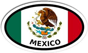 Amazon Com Mexico And Mexican Flag Car Bumper Sticker Decal Oval Arts Crafts Sewing