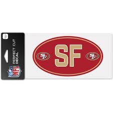 San Francisco 49ers Car Decals Decal Sets 49ers Car Decal Lids Com