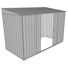 double sliding door skillion shed