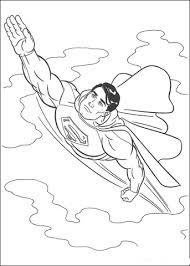 Superman In De Lucht Kleurplaat Gratis Kleurplaten Printen