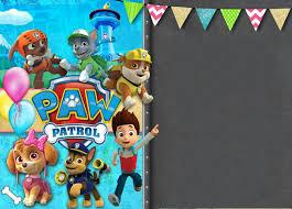 Plantilla Invitacion Paw Patrol Invitaciones De Paw Patrol