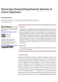 sample chemical equations to balance