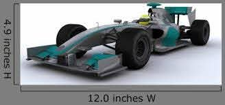 F1 Racing Car Wall Decal Wallmonkeys Com