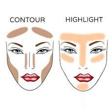 contour highlight and makeup