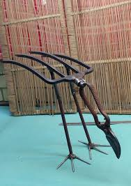 garden fork bird2 welding art