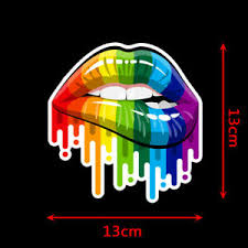 1pc Rainbow Lips Gay Pride Lgbt Decal Car Truck Window Bumper Wall Sticker Decor Ebay