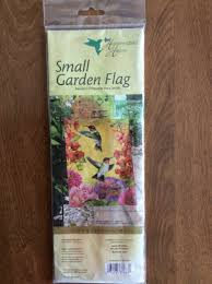 small flag welcome humming birds