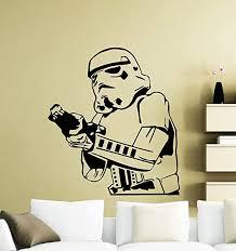 Amazon Com Andre Shop Stormtrooper With Gun Wall Decal Star Wars Logo Movie Vinyl Sticker Home Nursery Kids Boy Girl Room Interior Art Decorationsx6 N Home Kitchen