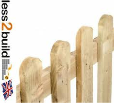 Picket Fence Panels 6x3 6x4 6x6 Garden Landscaping Diy Treated Timber Ebay