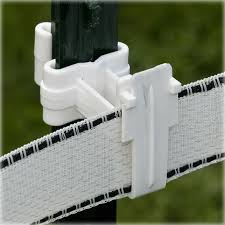 White T Post Polytape Electric Fence Insulators Zareba Electric Fence T Post Fence Insulation