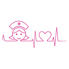 Cna Stethoscope Ekg Heart Nurse Rn Lpn Nursing Car Window Laptop Decal Sticker