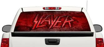 Product Slayer Trash Metal Rear Window Decal Sticker Pick Up Truck Suv Car 3