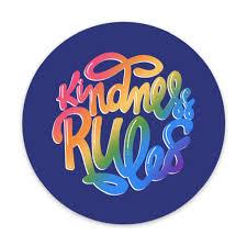 Kindness Rules Vinyl Sticker Love Dani