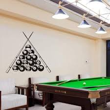 Billiards Stick And Balls Wall Decal Gallery Wallrus Free Worldwide Shipping
