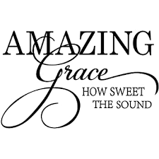 Amazon Com Amazing Grace How Sweet The Sound Vinyl Wall Window Decal Sticker Home Decor Home Kitchen